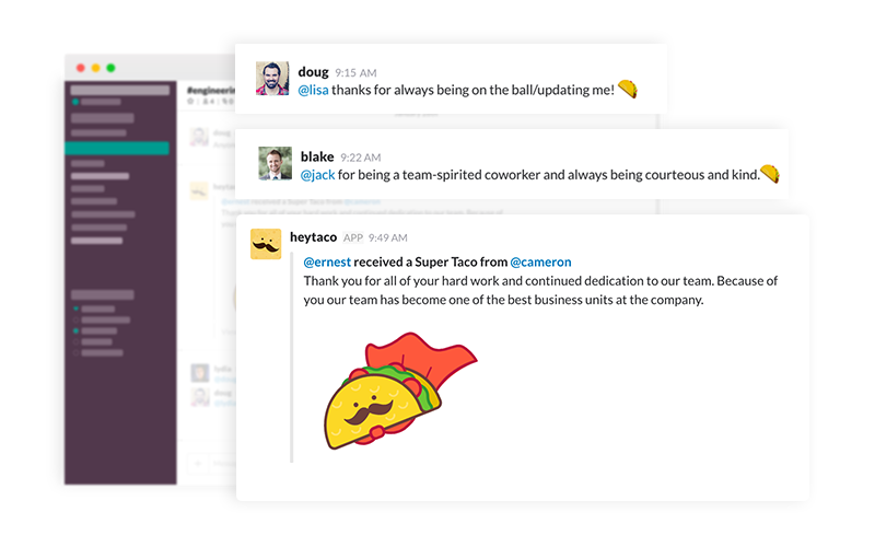 Gift and Messages in Slack
