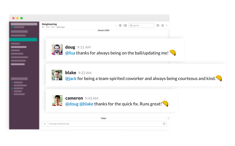 Messages in Slack